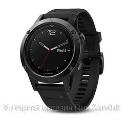 Fenix 5 Sapphire - Black with black band