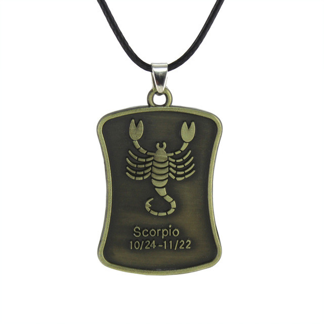 Металлический кулон со знаком зодиака Скорпион!