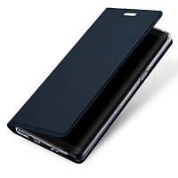 Держатель карты Flip Magnetic Full Body Solid Color Hard PU Кожаный чехол для Samsung Galaxy Note 8 Тёмно-синий