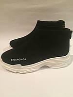 Женские кроссовки в стиле Balenciaga натуральная замша , копия