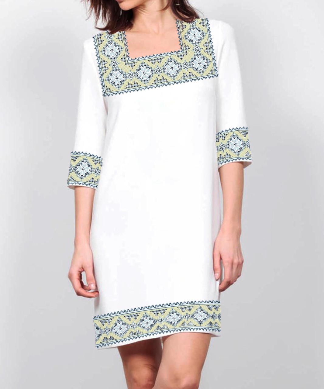 Заготовка жіночого плаття чи сукні для вишивки та вишивання бісером Бисерок  «Золотий орнамент 71» (П-71 )