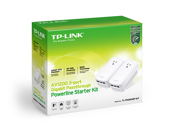 """Powerline адаптер TP-Link TL-PA8030P KIT AV1200 """"Over-Stock"""""""