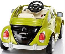 Детский Электромобиль YJ158 Жук зеленый на радиоуправлении, фото 2