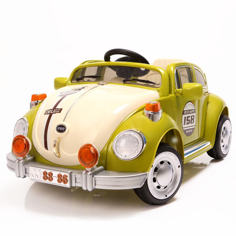 Детский Электромобиль YJ158 Жук зеленый на радиоуправлении