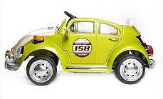 Детский Электромобиль YJ158 Жук зеленый на радиоуправлении, фото 3