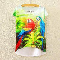 Летняя новая графическая цифровая печать Короткая футболка с коротким рукавом с длинным рукавом Как на изображении