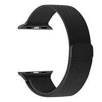 Полностью магнитная застежка браслет из нержавеющей стали для 38 мм iWatch серии 3 2 1 Чёрный