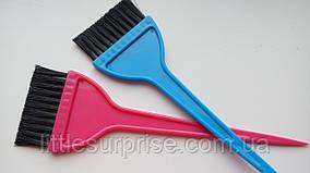 Кисть для покраски волос Широкая цветная
