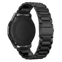 Металлический стальной сменный браслет для смарт часов 22мм для Samsung Gear S3 Чёрный