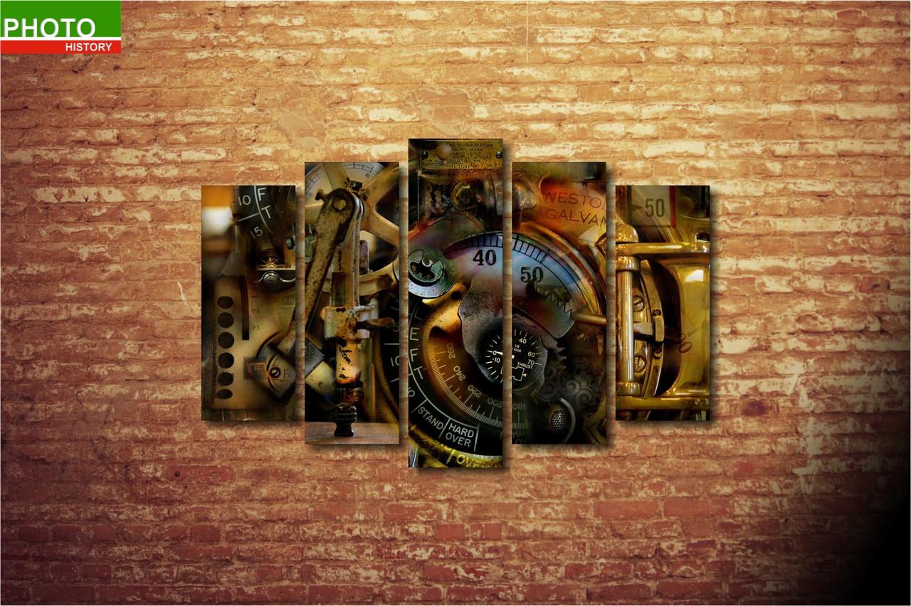 Модульная картина абстракция часы