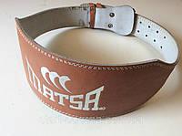 Ремень для тяжелой атлетики MATSA кож/зам р. L (на объем 85-105 см), шир. 15 см.на пряжке