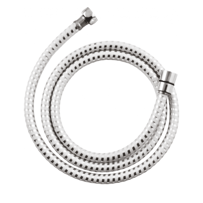 Шланг для душа 150 см Invena AW-30-J02 хром/белый