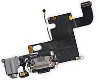 Шлейф для мобильного телефона Apple iPhone 6 коннектора зарядки,коннектора наушников с компонентами