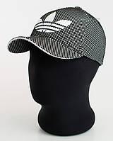 Бейсболка с эмблемой Adidas черный+белый, лакоста пятиклинка меланж