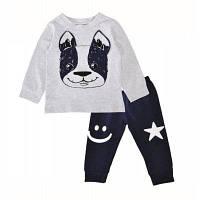 SOSOCOER мальчика два наборы собачья Звезда улыбающееся лицо футболка брюки