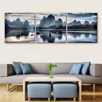 Специальный дизайн безрамных картин Guilin Landscape Print 3PCS 12 x 12 дюйма (30cм x 30cм)