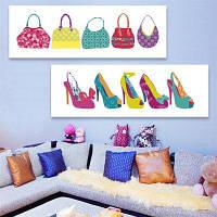 Специальный дизайн Безрамная живопись Сумки и обувь Печать 2PCS 9 x 28 дюймов (24cм x 70cм)