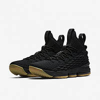 Баскетбольные кроссовки Найк Lebron 15 Black/Gum Реплика