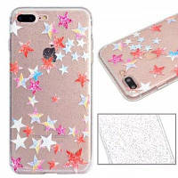 Colorful Stars Pattern Luxury Ultra Slim Bling Glitter Clear IMD TPU Мягкая крышка корпуса для iPhone X 8 8 Plus 7 7 Plus 6 6 Plus 6s 6s Plus 5 5s SE,