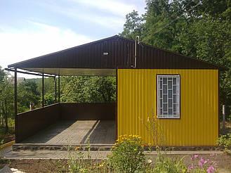 Садовый домик из профнастила 5