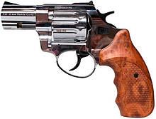 """Револьвер флобера STALKER 4 мм 2,5"""" нікель,коричн. рук."""