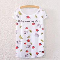 Летний новый треугольник Batwing T рубашка с короткими рукавами Loose Ladies Top Блузка большого размера белые топы Casual Outwear Дешевые женские