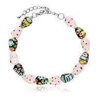 Модный DIY браслет из стеклянными бусинами для рождества - разноцветный