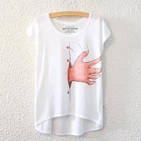 Летний Новый Графический цифровой Принт Короткая T рубашка блузка свободные дамы Белый футболка с коротким рукавом хлопок смешанные топы пиджаки для