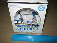 Лампа накаливания H1 WhiteVision 12V 55W P14,5s (+60) (4300K)  2шт. (производство Philips), ACHZX