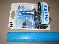 Лампа накаливания H7 12V 55W PX26d Diamond Vision 5000K 1шт blister (Производство Philips) 12972DVB1, ACHZX