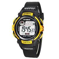 SYNOKE 99589 учащихся детской моды электронные часы Жёлтый
