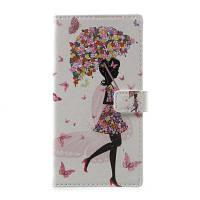 Цветочная девушка Pattern Flip Кожаный кошелек Стенд для телефона Samsung Galaxy S8 Plus Белый
