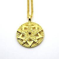 Модное золотое пятизвездное ожерелье Золотой