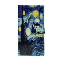 Платье с ночным небом с флип-кошельком с подставкой для телефона Samsung Galaxy Note8 N950 Синий