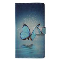 Бабочка Pattern Flip Кожаный кошелек Стенд для телефона iPhone 4 Разноцветный