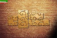 Модульная картина золотая фреска