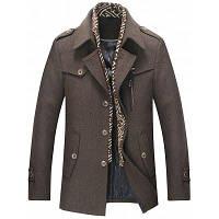 Съемное однослойное шерстяное шерстяное пальто L