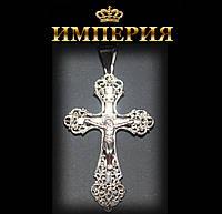 Крест мужской прямой серебряный 6 г