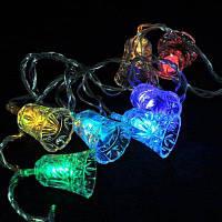 Творческое 20-LED декоративные Рождество Стиль колокол огни строки Прозрачный