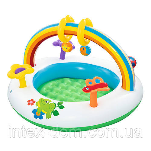 Детский надувной бассейн (52239) арка с игрушками