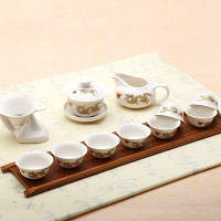 Набор фарфоровых чашек для чая китайский стиль 11шт Разноцветный