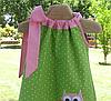 Детское платье -  горошек с апликацией