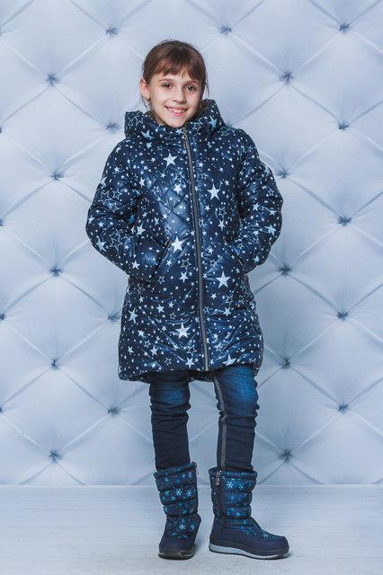 """Тёплая зимняя куртка для девочки """"Зірочки"""""""