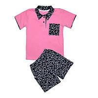 Комплект для девочки ( футболка поло+шорты)