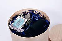 """Сувенирный набор """"Фляга+комплект рюмок с гравировкой"""" в деревянной упаковке"""