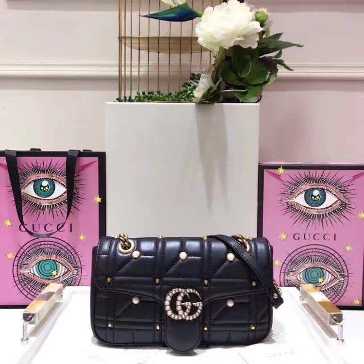 Стеганая сумка на плечо Gucci