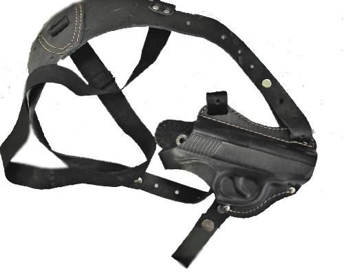 Кобура оперативная для пистолета Форт-17 с возможностью поясного ношения. Кожа.