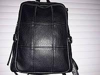 РАСПРОДАЖА Черный кожаный  рюкзак  хорошего качества  по низкой цене