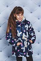 """Куртка-парка для девочки """"Зайчики"""", фото 1"""