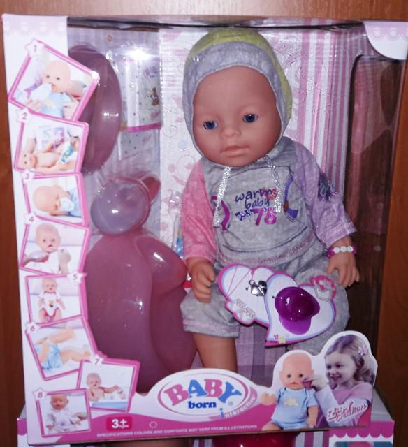 Пупс Baby Born Беби Борн с магнитной соской 9 функций